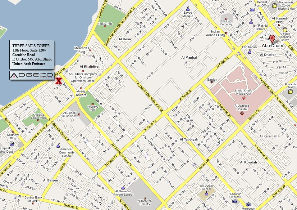 Location Map of Adgeco Group